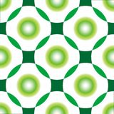 Green circles seamless pattern Stock Photos