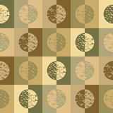 Green circles and squares. Retro circles and squares in green and brown earth tones vector illustration