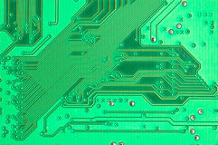 Green Circuit Board. Close Up Royalty Free Stock Photos