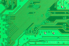 Green Circuit Board. Close Up Stock Photography