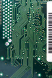 Green circuit board. With components Royalty Free Stock Images
