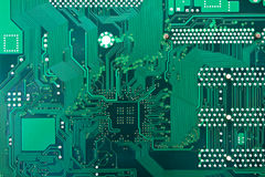 Green circuit board Stock Images