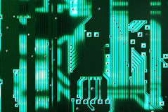 Green circuit board Stock Photos