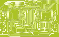 Green Circuit Board Background Stock Photography