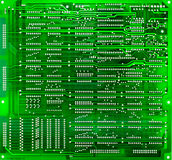 Green circuit board of computer Royalty Free Stock Image