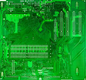 Green circuit board of computer Stock Photography