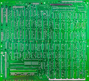 Green circuit board of computer Royalty Free Stock Photo