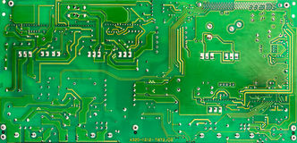 Green circuit board of computer Stock Images