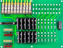 Green circuit board of computer Stock Photos