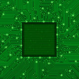 Green circuit board frame. Vector illustration of green circuit board frame Royalty Free Stock Image