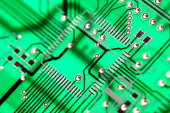 Green Circuit Board HiTech Royalty Free Stock Photo