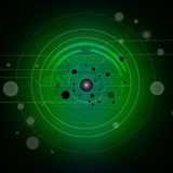 Green Circuit Board. Illustration Of Green Futuristic  Circuit Board Royalty Free Stock Photos
