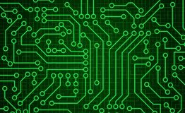 Green circuit board pattern texture. High-tech background in dig. Ital computer technology concept. Abstract illustration royalty free illustration