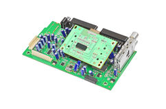 Green circuit board Royalty Free Stock Photos