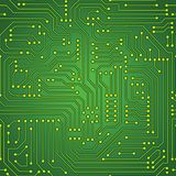Green circuit board seamless pattern. Computer green circuit board seamless pattern. Vector Royalty Free Stock Image