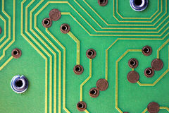 Green circuitboard Royalty Free Stock Photo
