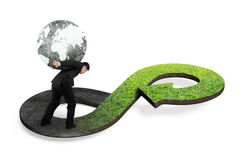 Green circular economy concept Stock Photos