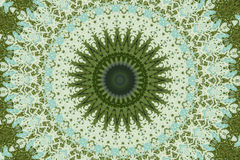 Green circular ethnic ornament Royalty Free Stock Photo