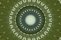Green circular ethnic ornament Royalty Free Stock Images