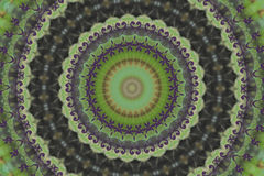 Green circular ethnic ornament. Arabesque. Decorative element for design Royalty Free Stock Images