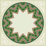 Green Circular floral border Stock Image