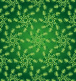 Green circular floral seamless pattern Royalty Free Stock Photography
