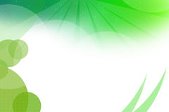 Green circular shapes left corner, abstrack background Royalty Free Stock Images