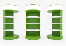 Green Circular Shelves Stock Photos
