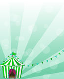 A green circus tent in a wallpaper design Royalty Free Stock Image