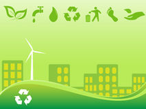 Green city Royalty Free Stock Images