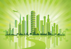 Green City. Royalty Free Stock Photo