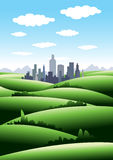 Green City. Illustration of a beautiful green city concept Stock Images