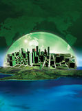 Green City. 3D rendered conceptualization Green city stock illustration