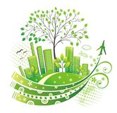 Green city. Royalty Free Stock Images