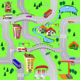Green city. Seamless vector illustration with green city Royalty Free Stock Photography