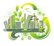 Green city. Stock Image