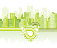 Green city background Stock Photos