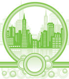 Green city background stock illustration