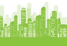 Green City Background. Vector illustration of a green city background Stock Photo