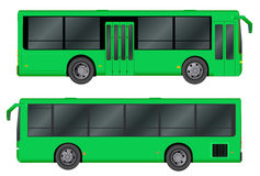 Green City bus template. Passenger transport. Vector illustration eps 10 isolated on white background. Royalty Free Stock Photography