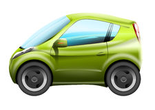 Green city car illustration Stock Photography