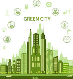 Green city concept Stock Image