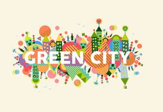 Green City concept illustration Royalty Free Stock Photography