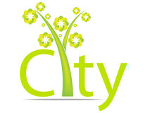 Green city design. Vector illustration Royalty Free Stock Photo