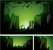 Green city design royalty free illustration