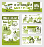 Green city, eco business banner template design Stock Photo
