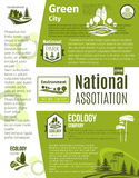 Green city, eco business, ecology poster template Stock Photography
