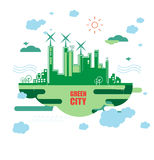 Green city. Ecology concept. Save life and environment Royalty Free Stock Photography