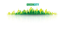 Green city. Ecology concept. Save life and environment Stock Photography