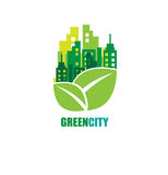 Green city. Ecology concept. Save life and environment Royalty Free Stock Images